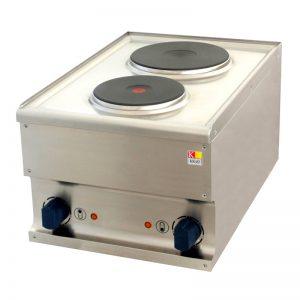 Električni štednjak s 2 ploče 400x600x310mm