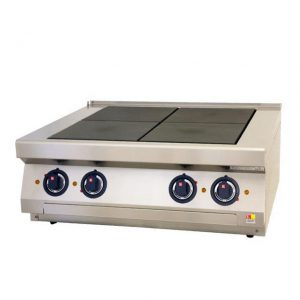 Električni štednjak s punim pločama 800x700x340