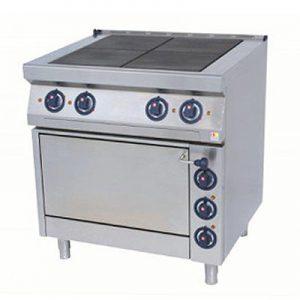 Električni štednjak s punim plocama i pećnicom 800x700x900