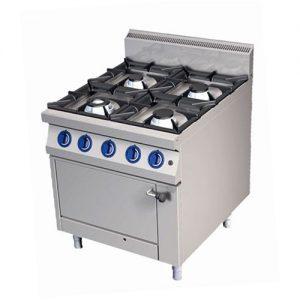 Plinski štednjak s plinskom pećnicom 800x900x900mm