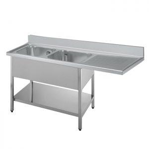 Sudoper dvodijelni sa ocijeđivačem i prostorom za perilicu