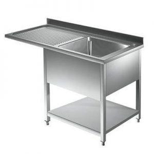 Sudoper jednpdijelni sa ocijeđivačem i prostorom za perilicu